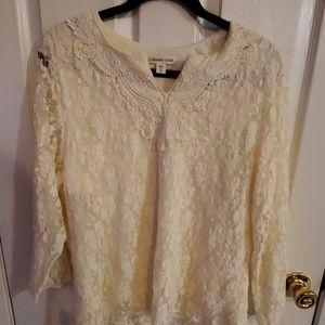 Cream colored lace top